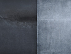 Is a thing lost...if you know where it is? | Diptych of lava | Graphite ink and glacial water on boards